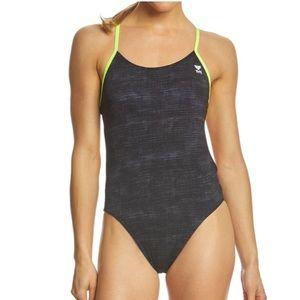 TYR Sandblast Cutoutft 1 Piece swimsuit. Size 32.